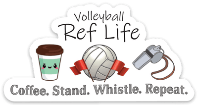 Volleyball Ref Life Sticker - Pura Vida Volleyball
