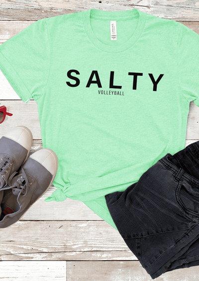 Salty Volleyball T-Shirt - Pick Your Own Color - Pura Vida Volleyball