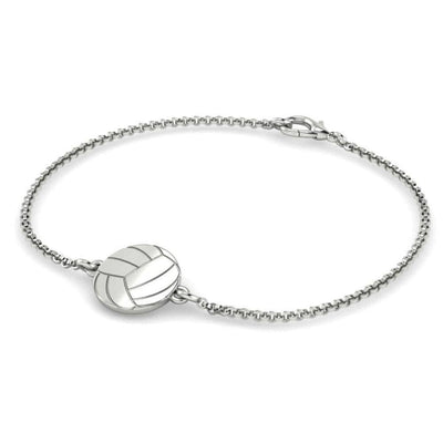 Silver Volleyball Chain Bracelet - Pura Vida Volleyball
