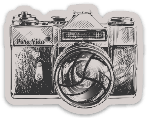Volleyball Camera Sticker - Pura Vida Volleyball