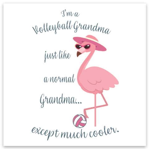 Volleyball Grandma Sticker - Pura Vida Volleyball
