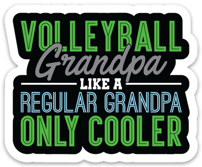 Volleyball Grandpa Sticker - Pura Vida Volleyball