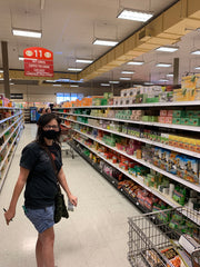 Lindsey at Lee Lee's market Shopping for the Wellicy Munchie Monday Hemp blog CBD Edibles