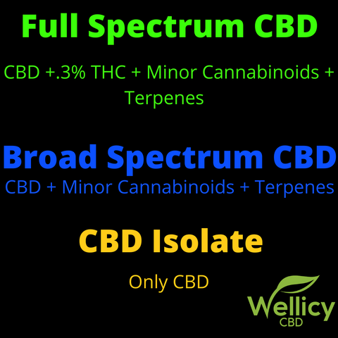 Full Spectrum CBD Oil, Broad Spectrum CBD Oil, CBD Isolate