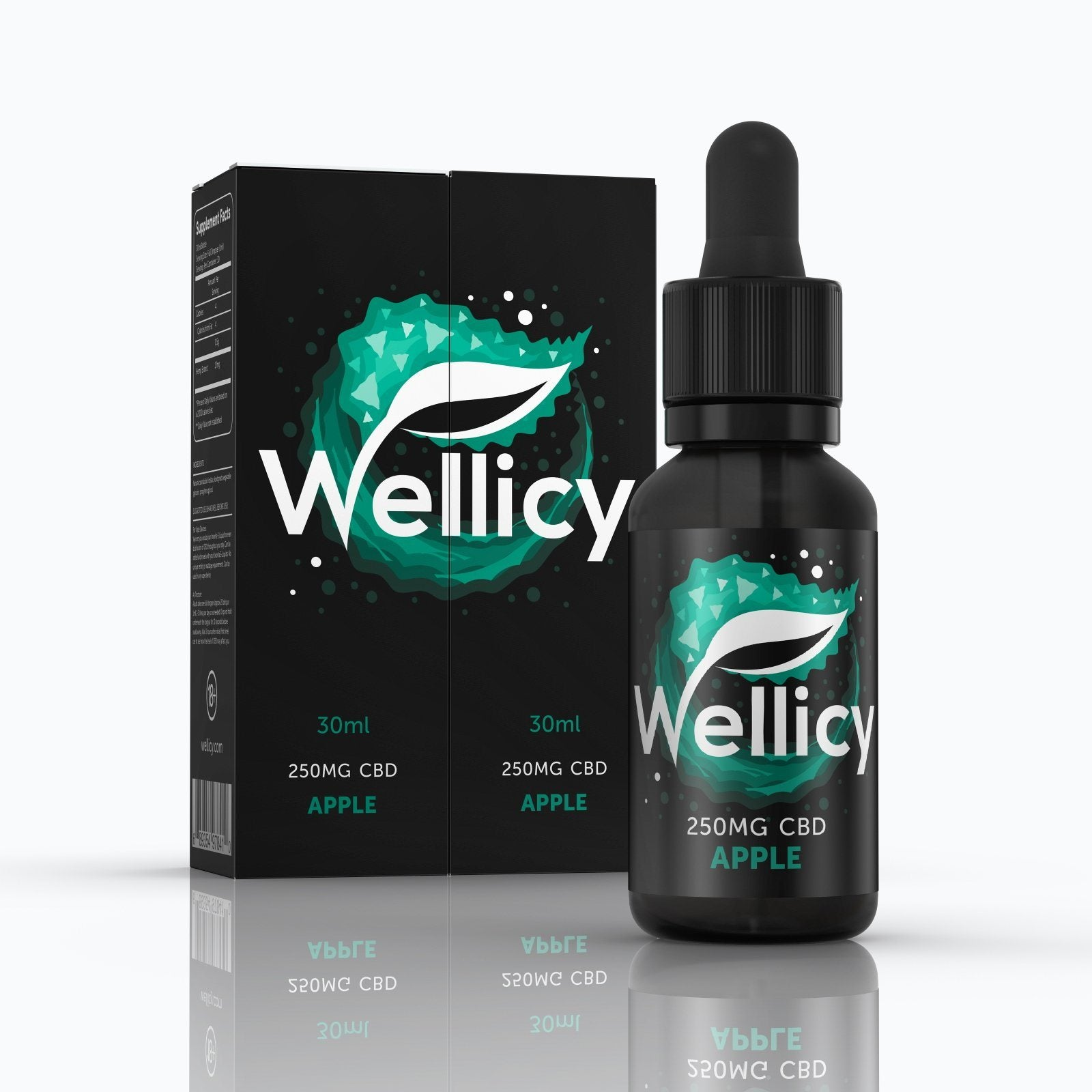 Wellicy Apple CBD Vape Juice 250mg