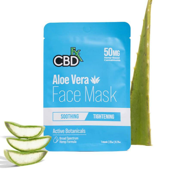 CBDFx Aloe Vera CBD Face Mask | 50mg Broad Spectrum Hemp Extract