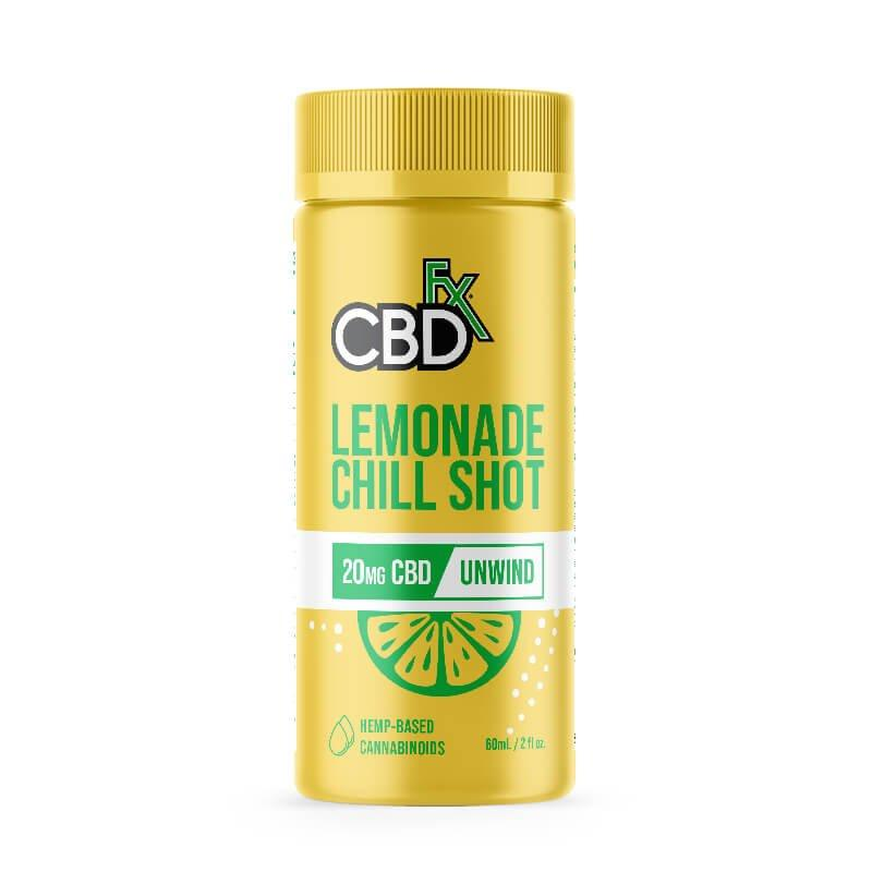 CBDFx Lemonade CBD Chill Shot - 20mg CBD