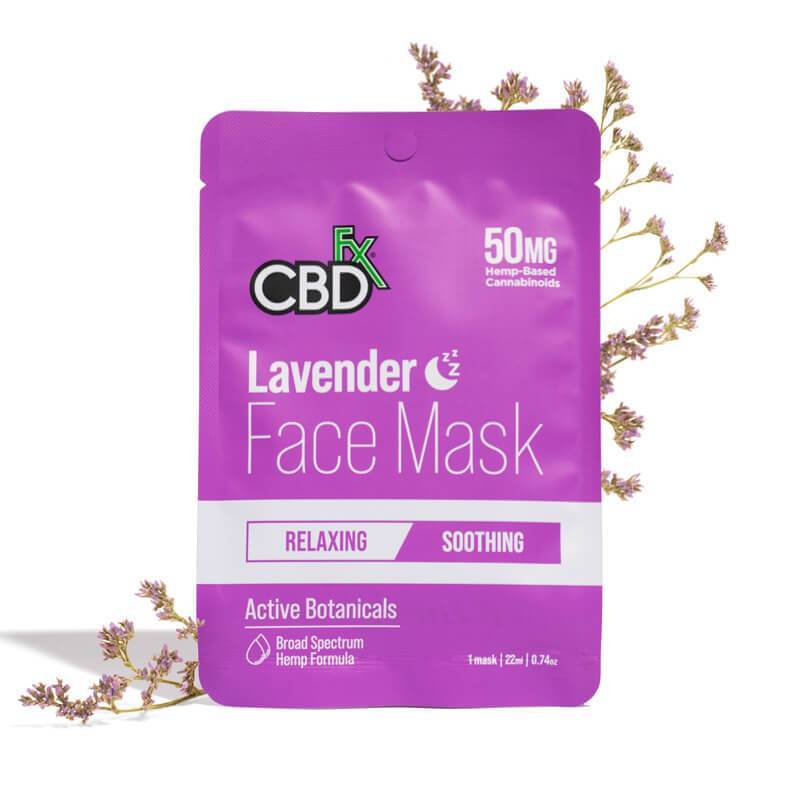 CBDFx Lavender CBD Face Mask with 50mg Broad Spectrum CBD Hemp Oil