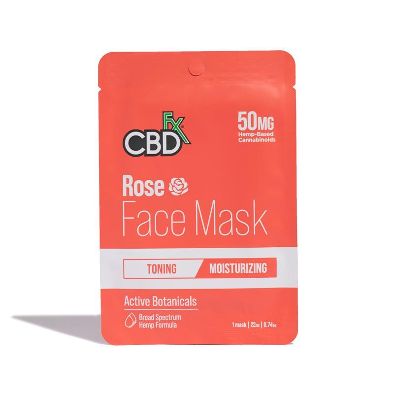 CBDFx Rose CBD Face Mask - 50mg Broad Spectrum CBD