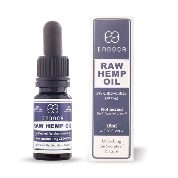 Endoca Raw Hemp Oil Drops - 300MG CBD + CBDa