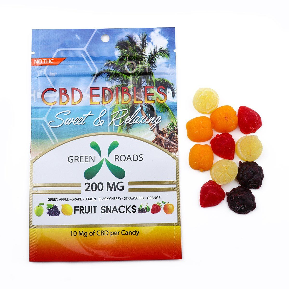 200mg CBD Fruit Snacks by Green Roads World CBD