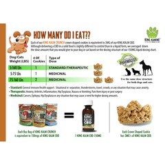 King Kalm Crunch - Apple Cinnamon CBD Dog Treats Dosing Instructions