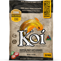 Koi Hemp Derived CBD Tropical Gummies - 20 Pack - 200mg CBD