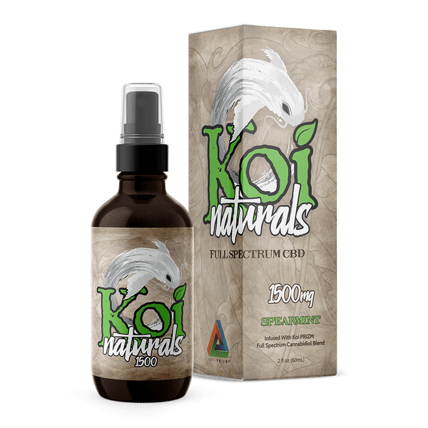 Koi Naturals Spearmint Hemp Extract CBD Spray - 60mL - 3,000mg CBD
