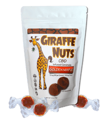 Giraffe Nuts CBD Caramels - Golden Maple