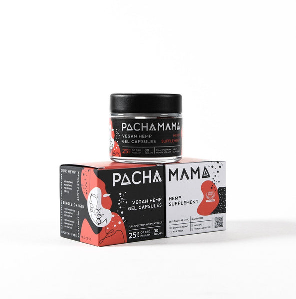 Buy Pachamama CBD Gel Caps with 750mg Full Spectrum CBD Oil