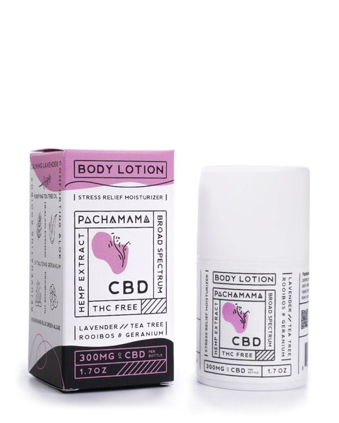 Pachamama CBD Body Lotion | 300mg CBD | Stress Relief Moisturizer CBD Topical