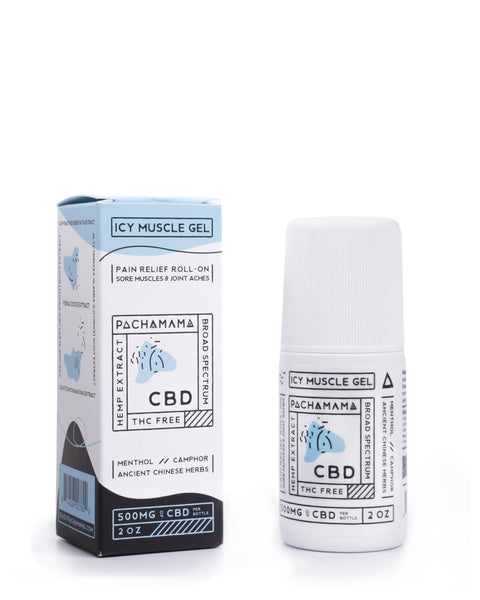 Pachamama CBD Icy Muscle Gel Roll On - 500mg CBD