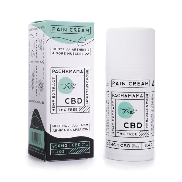 Pachamama CBD Pain Cream with 850mg Broad Spectrum CBD | Soothe Aches & Pains | CBD Topical