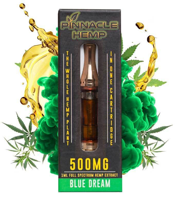 Pinnacle Hemp Blue Dream CBD Vape Cartridge - 500mg Full Spectrum CBD