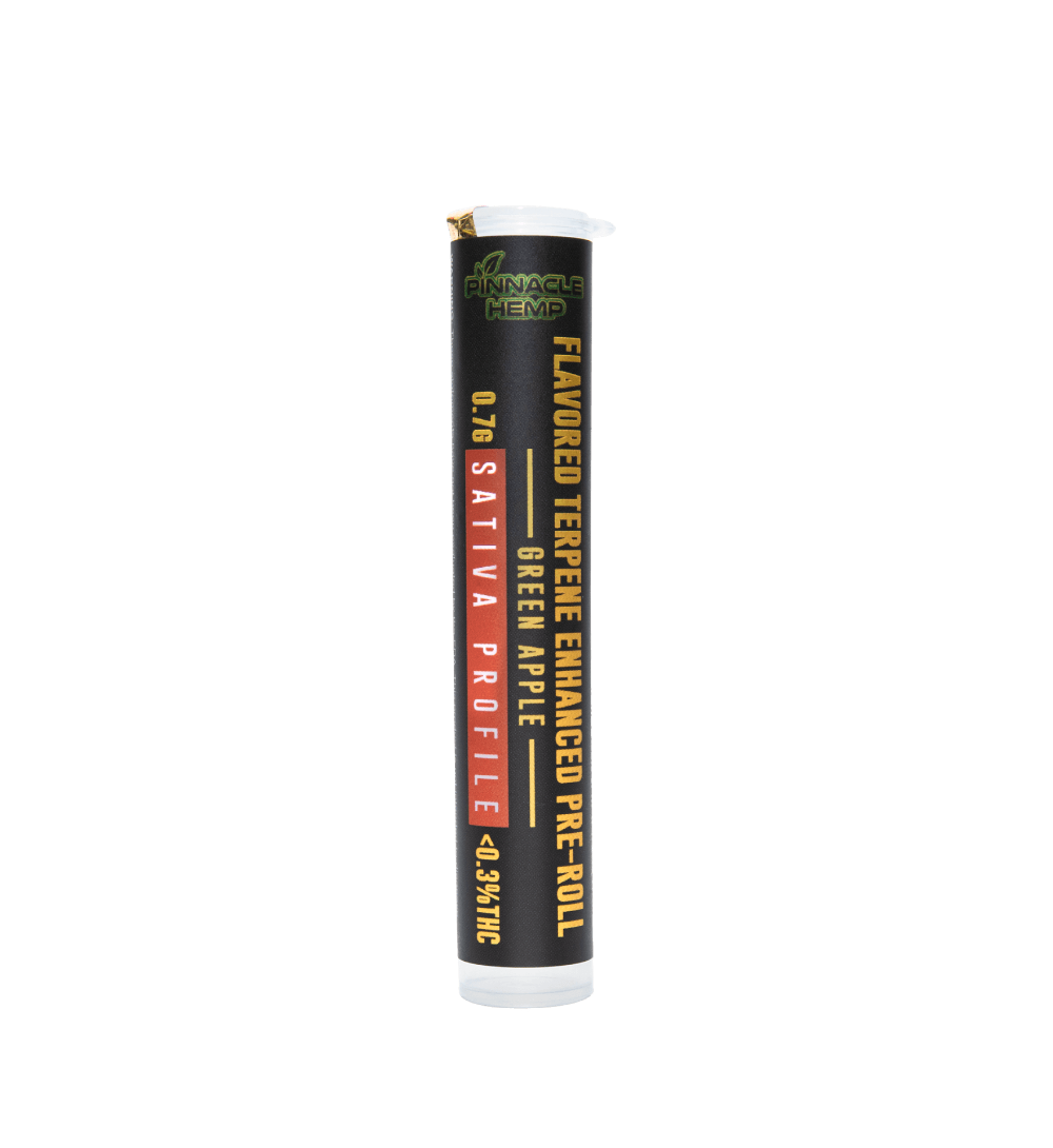 Pinnacle Hemp Terpene Enhanced Pre Roll Green Apple Sativa Hemp Flower