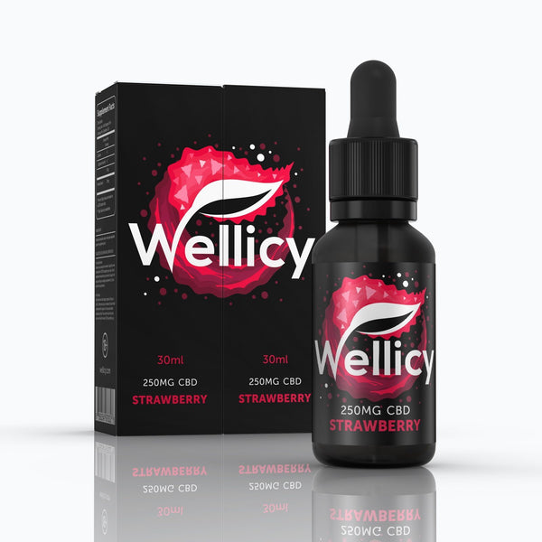 Wellicy Strawberry CBD Vape Juice 250mg