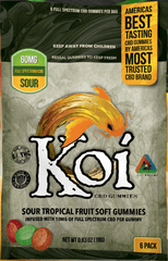 Koi CBD Sour Tropical Gummies - 6 Pack - 60mg CBD