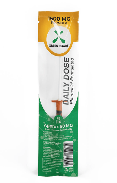 Green Roads 1,500mg Daily Dose CBD Syringe