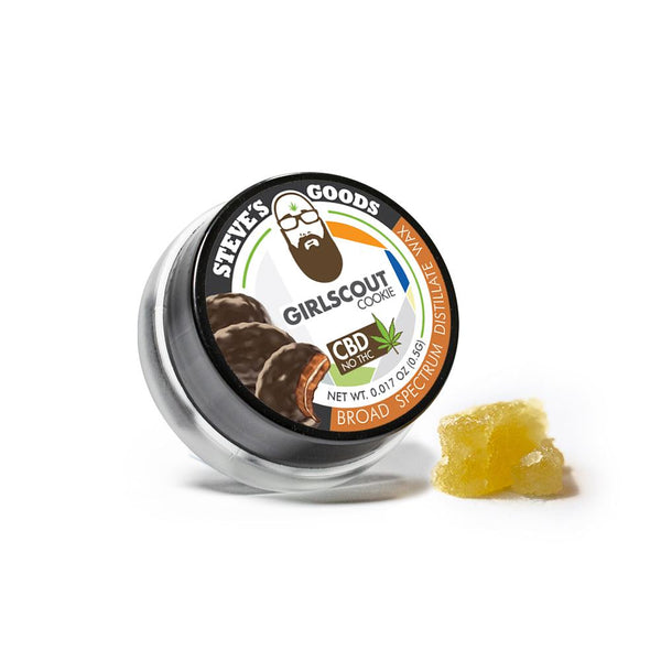Buy CBD Concentrates - Steve's Goods Girl Scout Cookies CBD Wax - 1/2 Gram