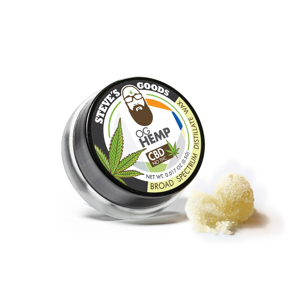Buy Steve's Goods CBD OG Wax Broad Spectrum CBD Concentrate - Half Gram