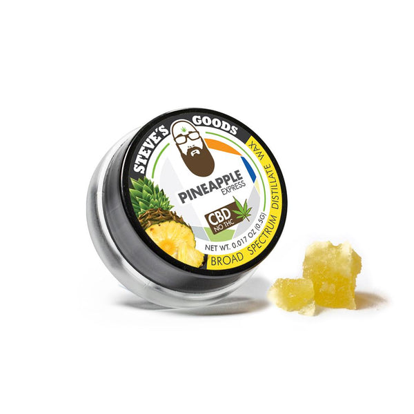 Steve's Goods Pineapple Express CBD Wax - Half Gram CBD Concentrate to Dab