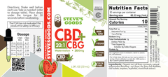 Steves Goods CBD watermelon CBG 2500 mg Nutrition Facts