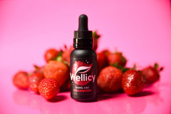 Wellicy Strawberry CBD Oil with Real Strawberries
