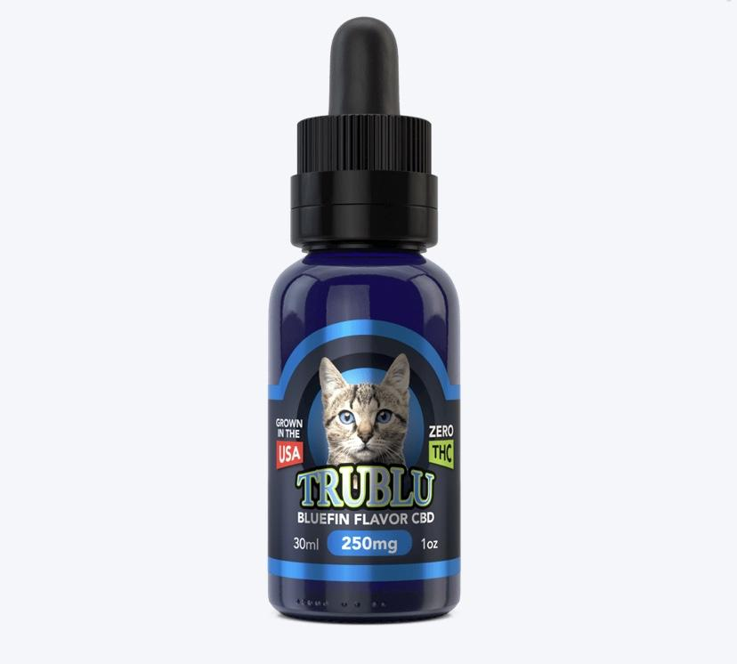 Blue Moon Hemp's TruBlu Bluefin Tuna CBD Tincture for Cats 250 mg Pet Tincture