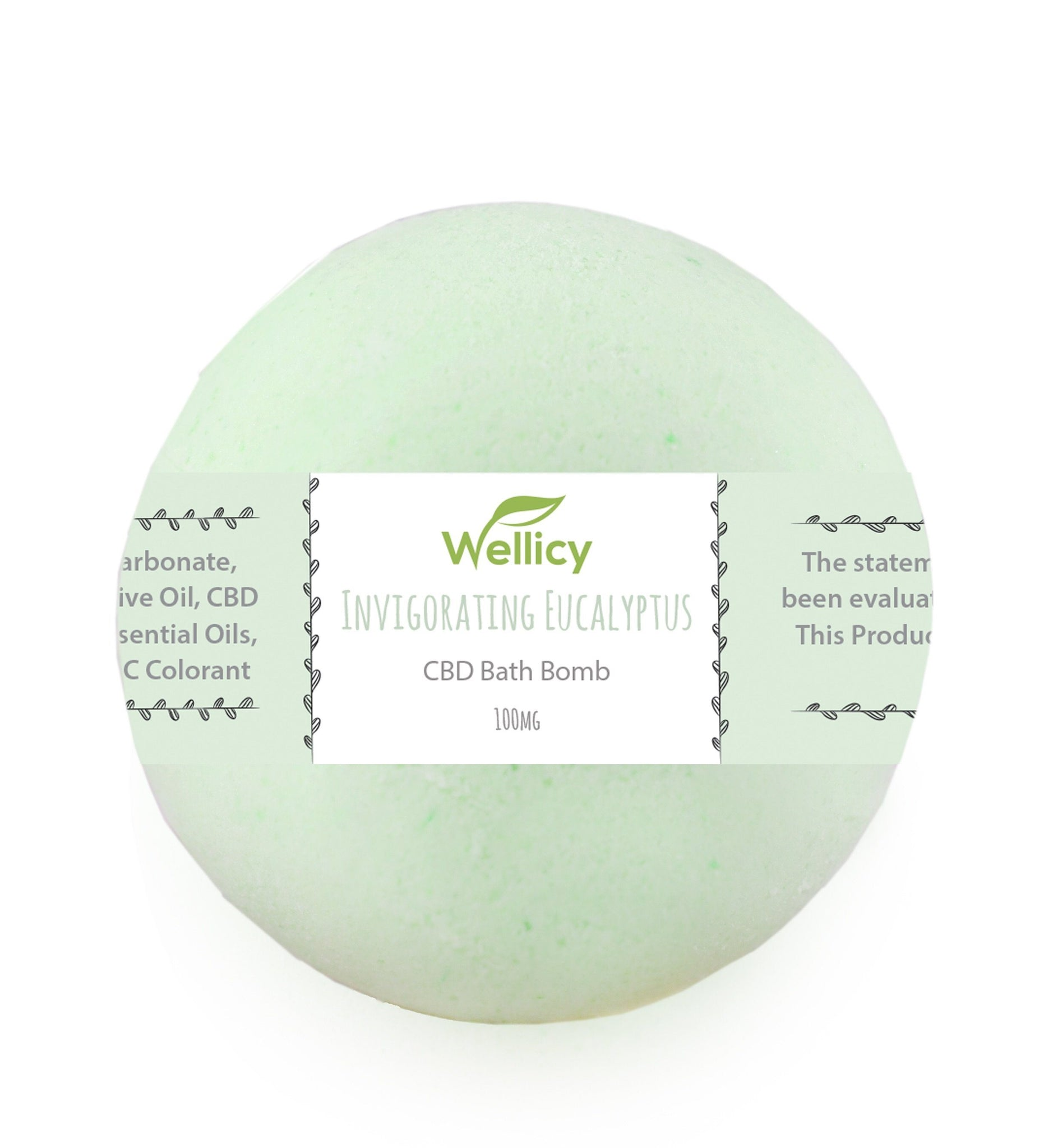Wellicy Invigorating Eucalyptus CBD Bath Bomb