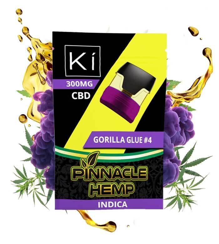 Pinnacle Hemp Ki Replacement Pod Gorilla Glue #4 Indica CBD Vape - 300mg CBD