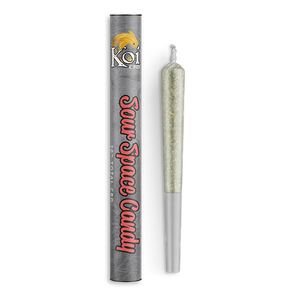 Koi CBD Sour Space Candy CBD Pre Roll - 1 Gram Premium Smokeable Hemp Flower