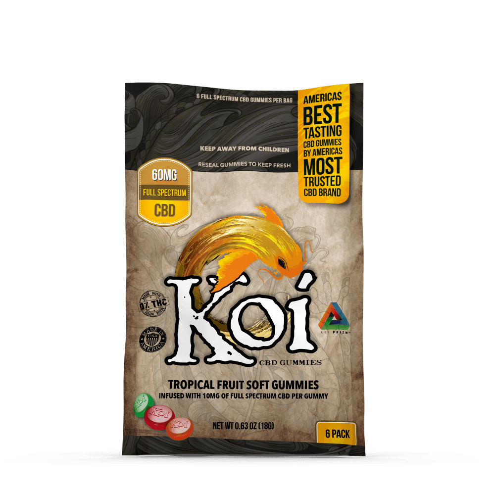 Koi CBD Tropical Gummies - 6 Pack - 60mg CBD
