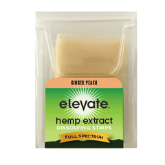 Elevate Hemp CBD Dissolvable Strips - Ginger Peach