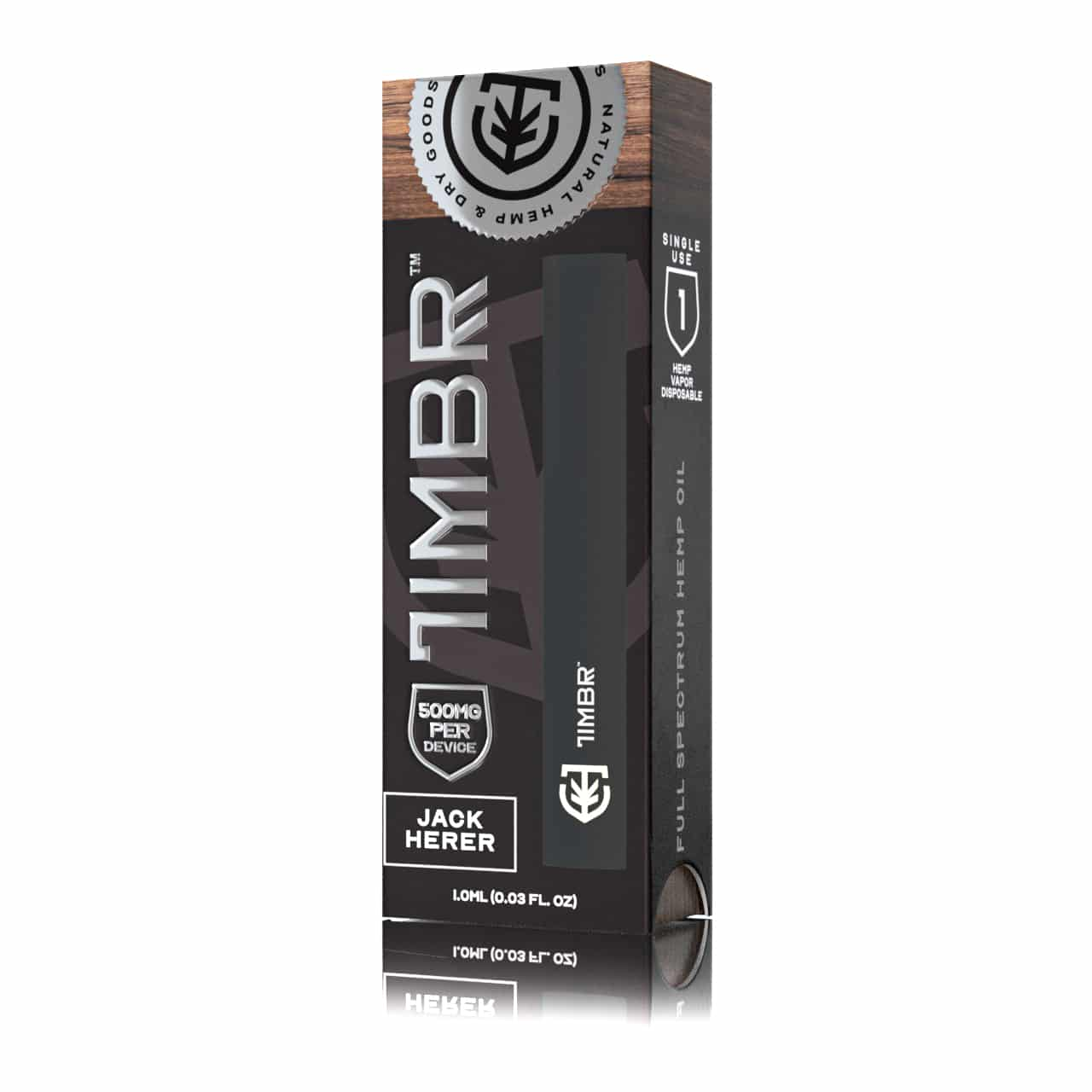 TIMBR Jack Herer Disposable CBD Vape Pen - 500mg Full Spectrum CBD - 150 Puffs