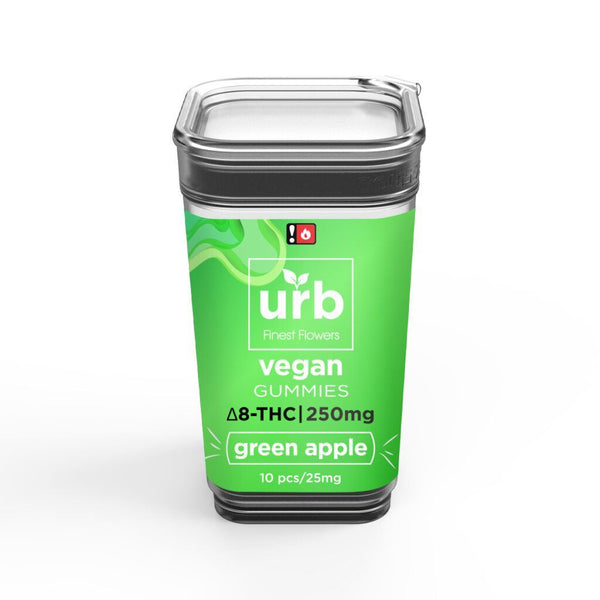 Urb Green Apple Vegan Delta-8 THC Gummies