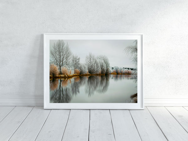 'Hoar Frost Twilight' Photographic Print, Kellands Pond
