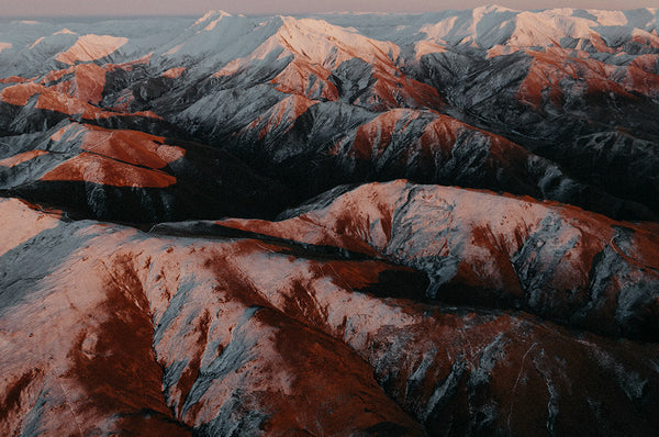 Kakanui Ranges at Sunrise Photographic Print, North Otago New Zealand