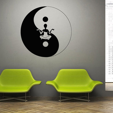 Yoga Wall Art yoga wall art sticker – coolgadgetsbytz