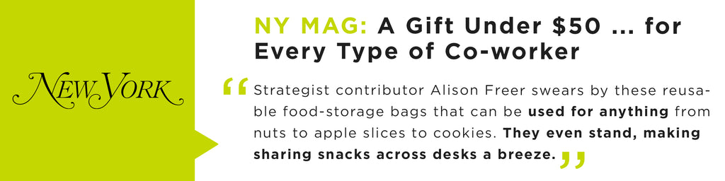 Strategist contributor Alison Freer swears by these reusable food-storage bags that can be used for anything from nuts to apple slices to cookies. They even stand, making sharing snacks across desks a breeze.