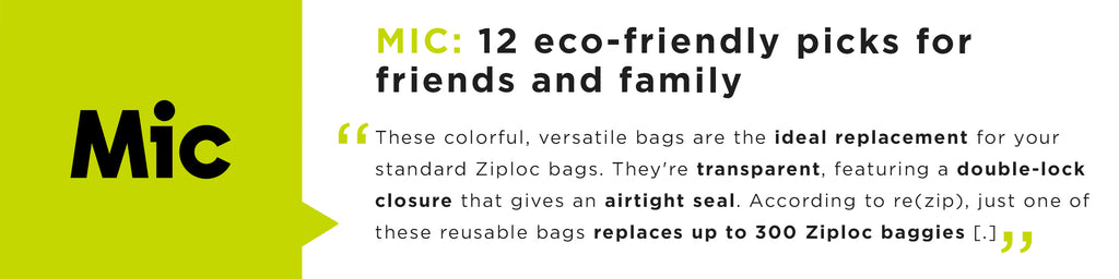 These colorful, versatile bags are the ideal replacement for your standard Ziploc bags.