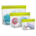 3-piece Stand-Up Leakproof Reusable Storage Bag Kit