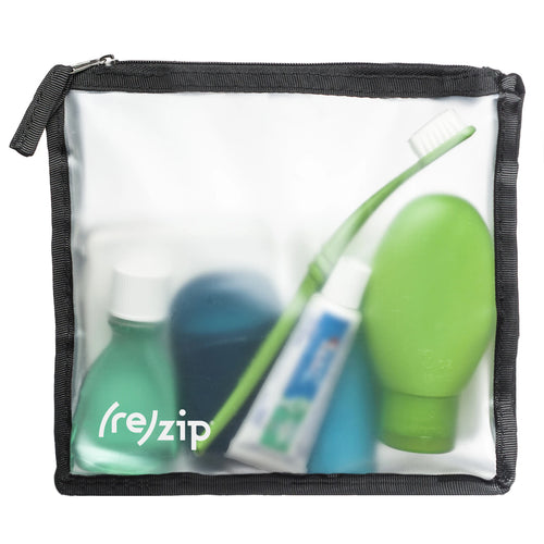 rezip Zippered TSA-Compliant Travel Quart Reusable Storage Bag