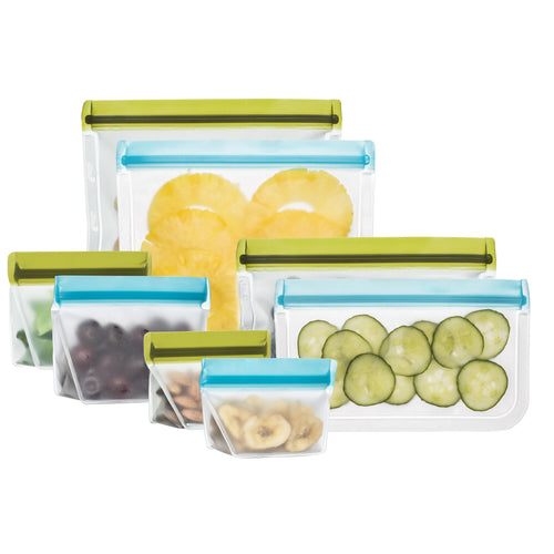 8-piece Deluxe Reusable Storage Bag Kit - BlueAvocado