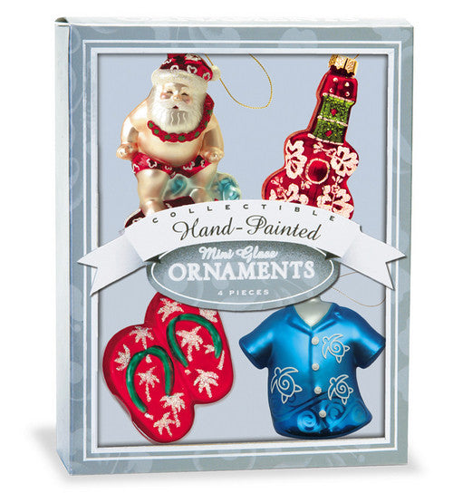Tropical Holiday Ornament Set